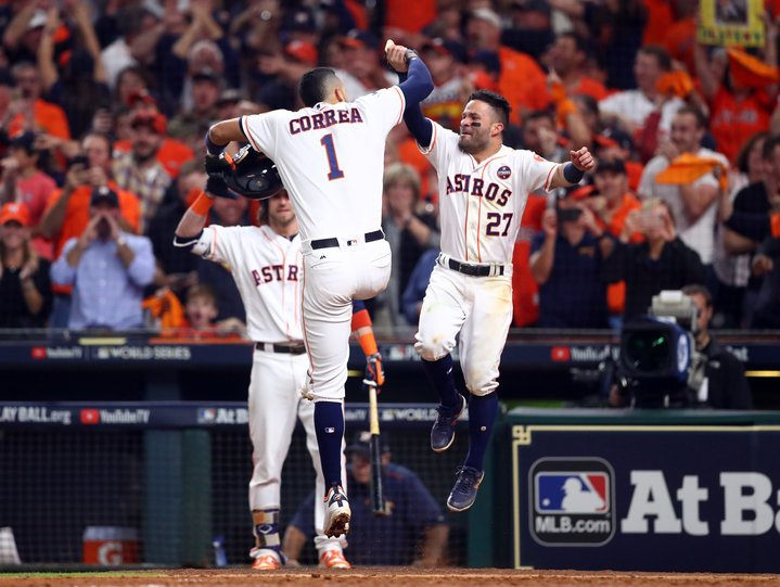 What. A. Game.   Astros walk off in the bottom of the 10th to defeat the Dodgers 13-12.  They lead the #WorldSeries 3-2.