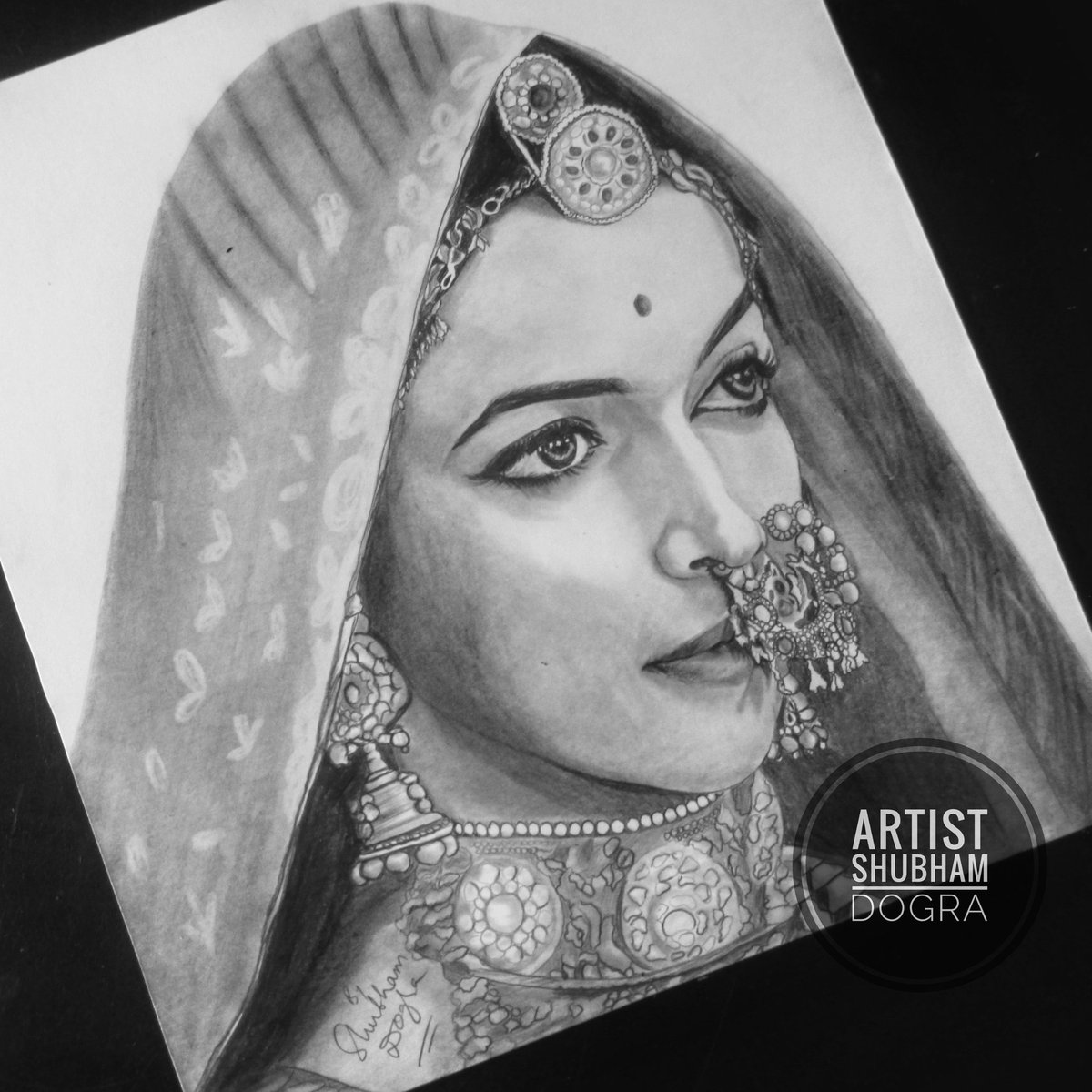 Artist shubham dogra on twitter pencil sketch of deepika padukone