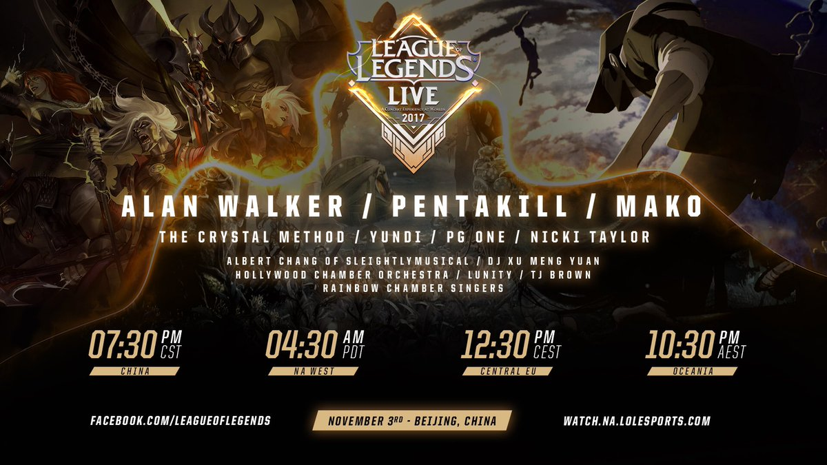 "Alan Walker on Twitter: ""Excited to attend @LeagueOfLegends LIVE in Beijing  on November 3rd🙌🏼 Stay tuned... 📸: Claes Magnusson… """