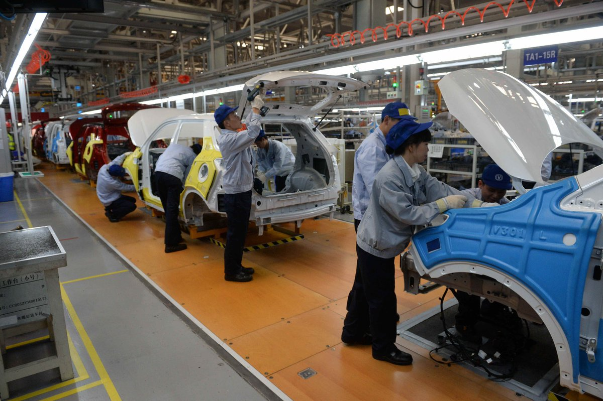Programme started with a visit to the automobile plant