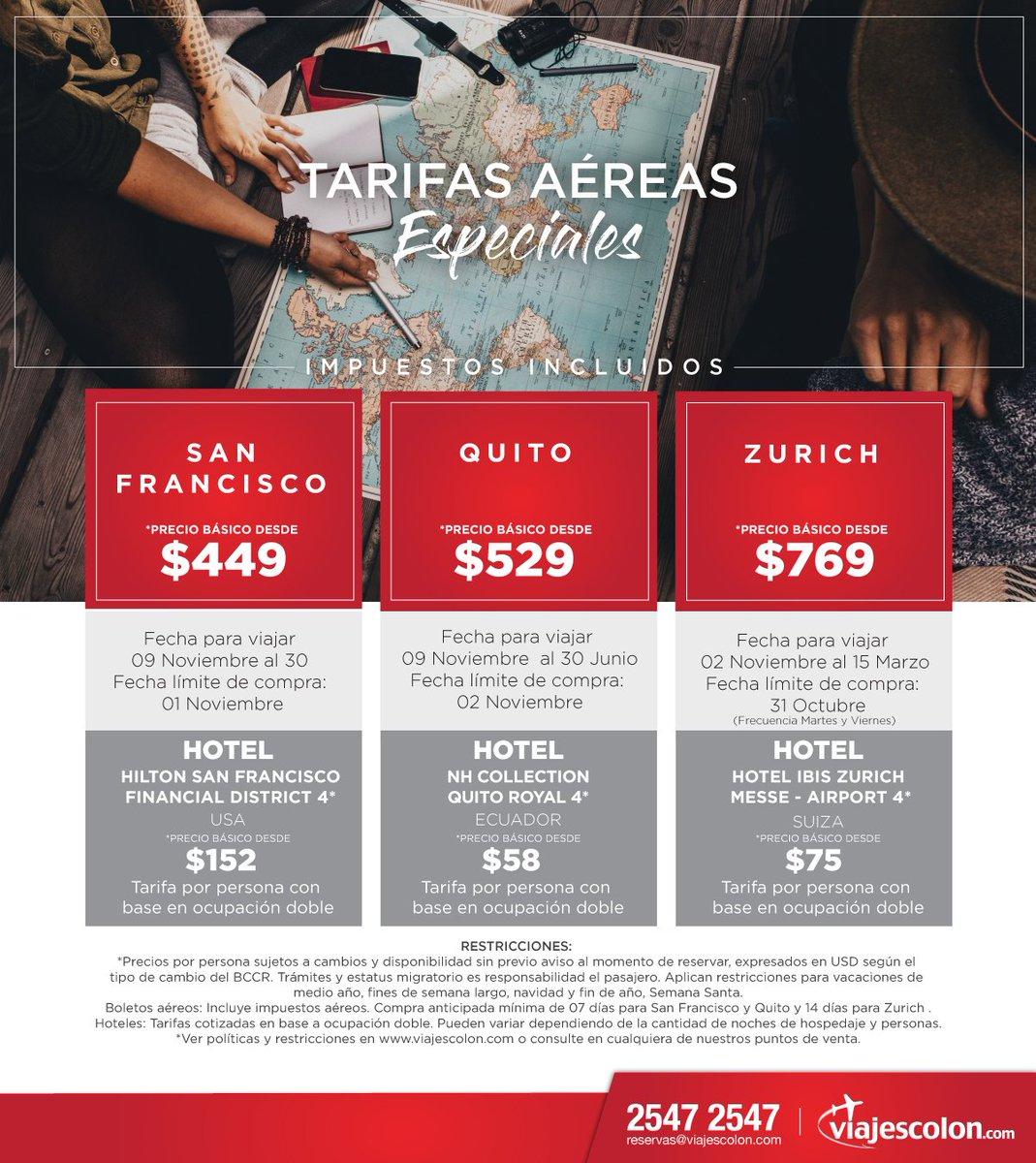 ¡La ciudad de San Francisco más cerca! *Precio básico desde $449.    https://t.co/oOCsf2m8RM reservas@viajescolon.com #Vuelos #Quito #Zurich https://t.co/gtsTYi1Wv5