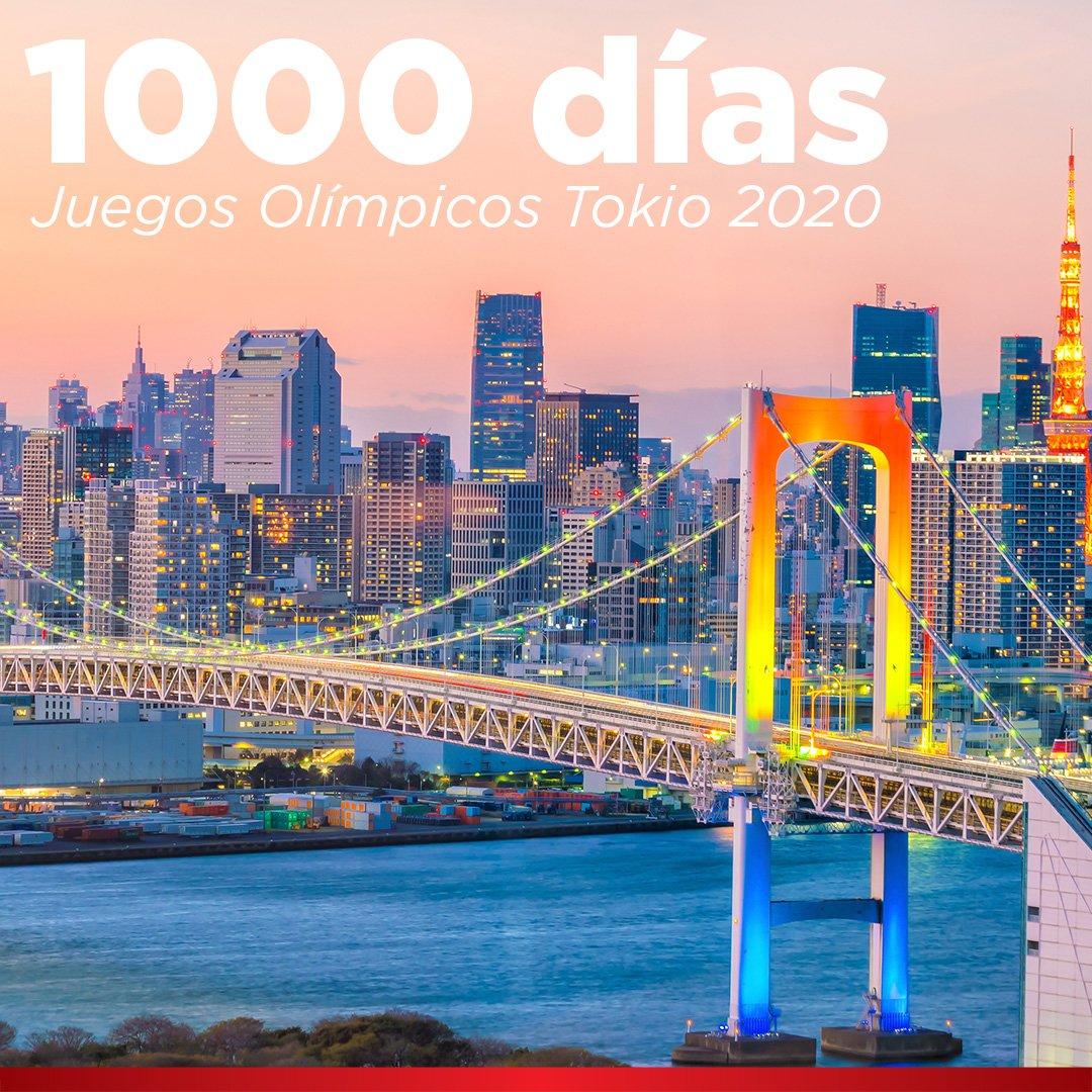 ¡Sí! Estamos exactamente a 1000 días de los Juegos Olímpicos de #Tokio 2020. Iniciarán el 24 de Julio de ese año, ¿están listos? #Olimpiadas https://t.co/QsE0x1OnTC