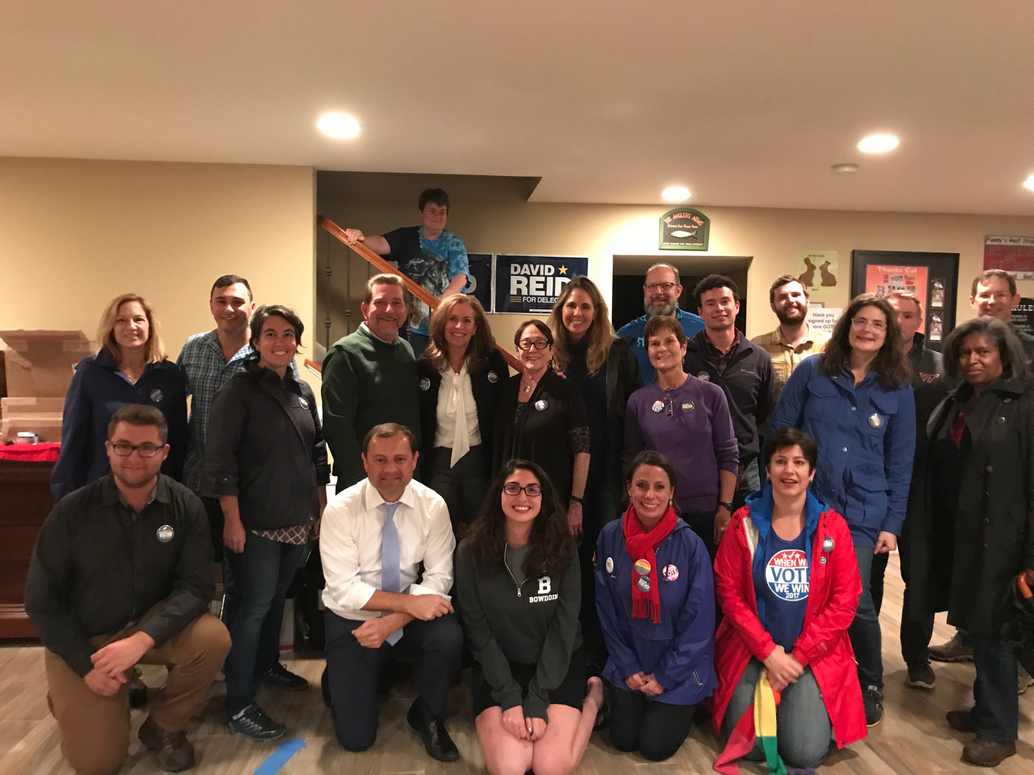 Loudoun County is fired up for @DavidReidVA! Great to kick off a canvass for David yesterday with @DSMcAuliffe. https://t.co/kgXTS1zFRY