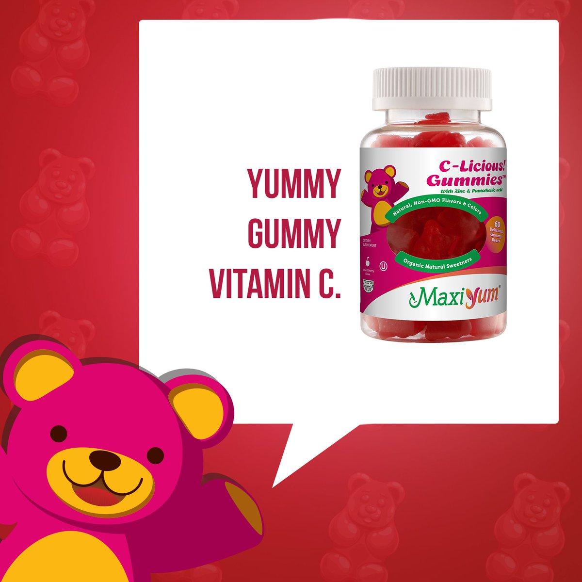 Maxi Health On Twitter Boost Yours And Your Kids Immune Systems Wellness Gummy 30 Gummies With Maxiyum C Licious Filled Vitamin B5 Zinc