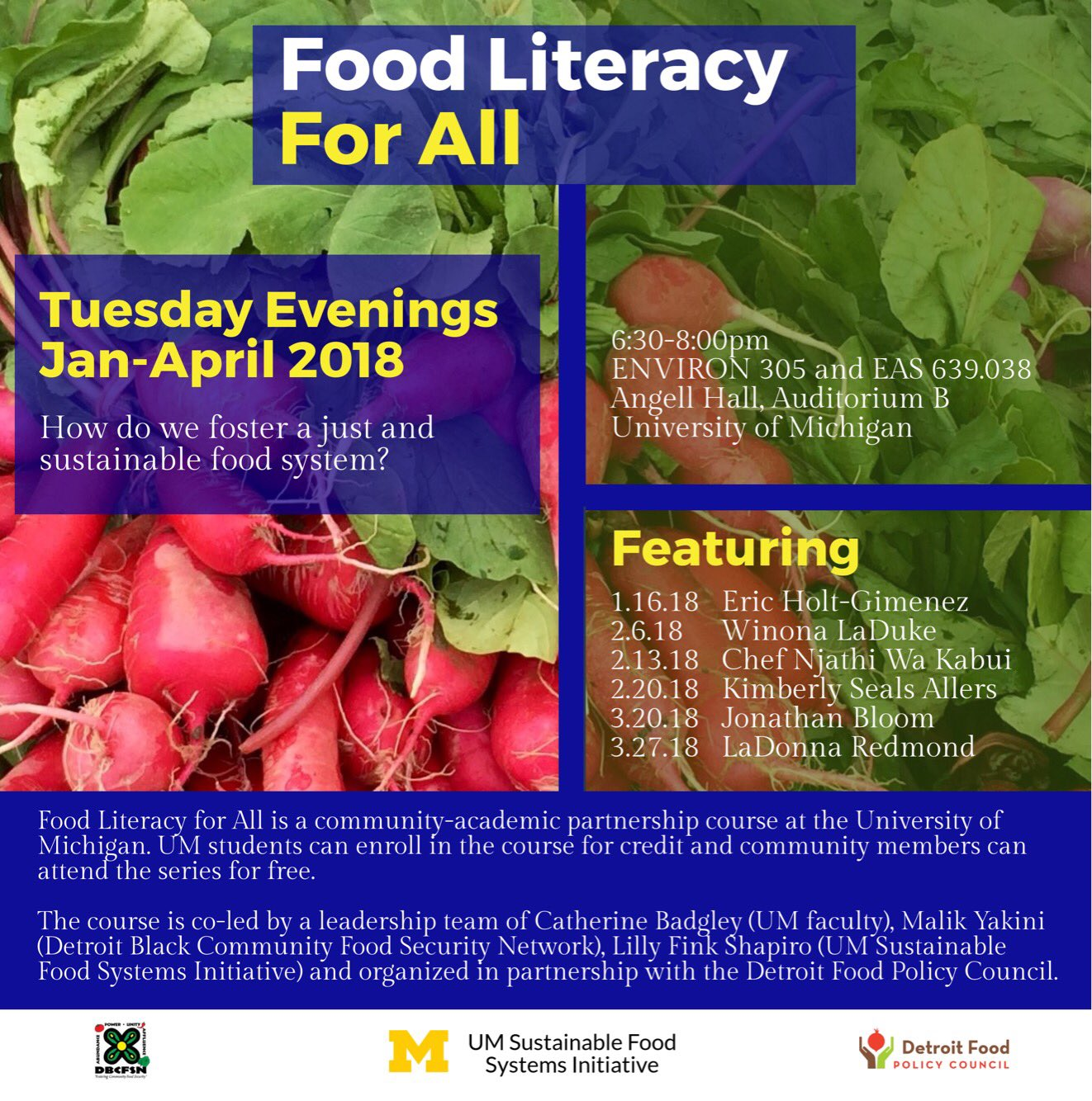 Detroit Food Policy Council On Twitter Save The Dates We Will Partnering Again This Next Year With U Of M And Dbcfsn For Food Literacy For All