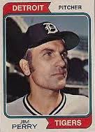 Happy Birthday, Jim Perry and his horrifically painted-on Tigers hat, the late Red Borom and Clyde Manion.