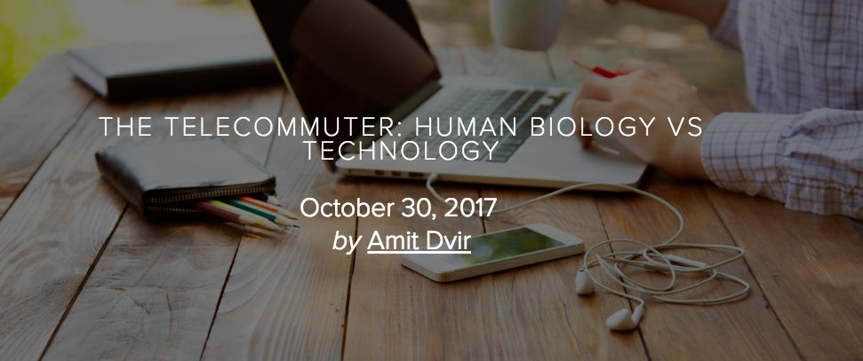 #Telecommuting is gaining popularity as tech advances, but is it everything its cracked up to be? #WFH #humanelement  http:// bit.ly/2zYqr09  &nbsp;  <br>http://pic.twitter.com/ZnAAsdCCbQ