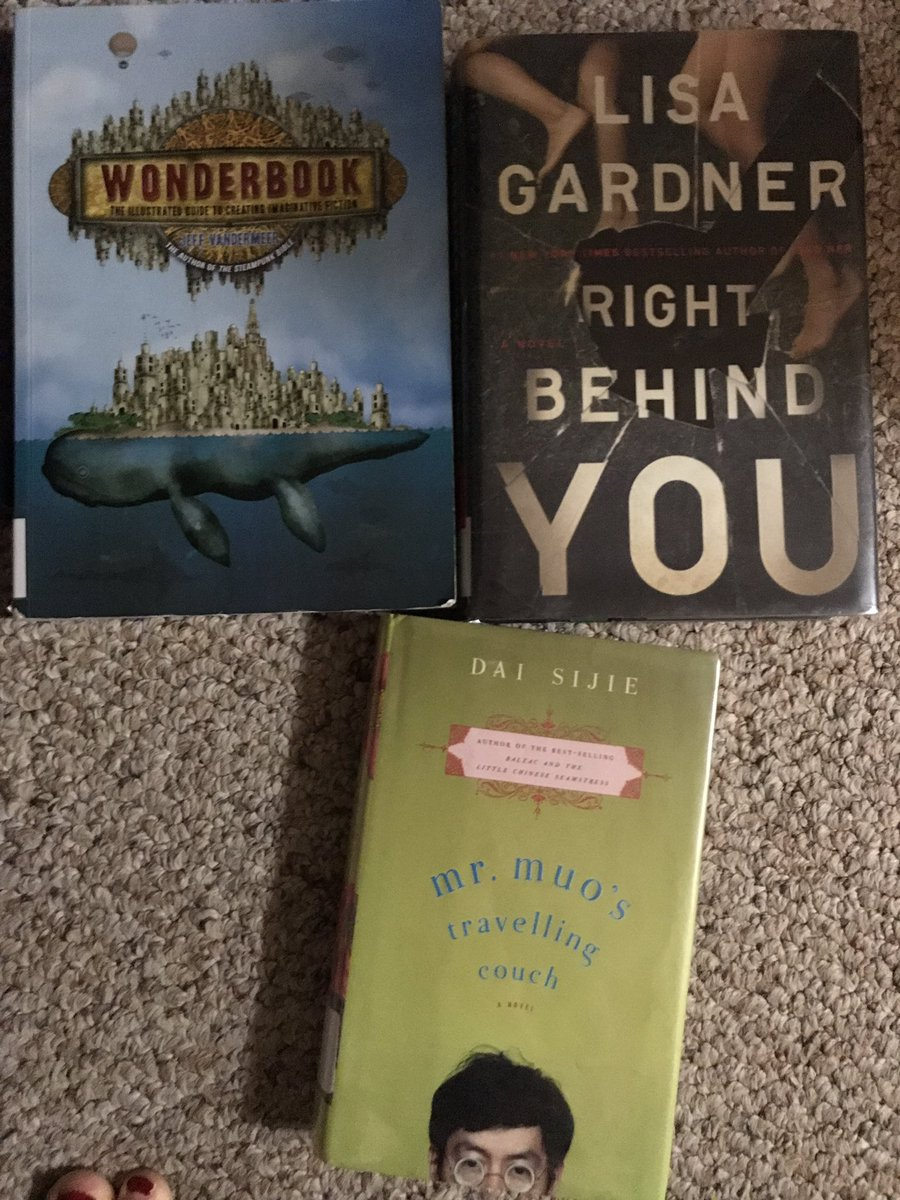 Went to the library to pick up books for my kindergartener. These tagged along for the ride. #library #bookproblem #lisagardner #daisijie<br>http://pic.twitter.com/MXXyfRT9Fo