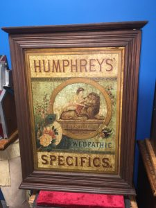 "HUMPHREYS' HOMEOPATHIC SPECIFICS"" DISPLAY MAPL"