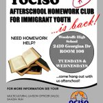 #YOCISO Afterschool Homework Club For Immigrant Youth @WoodroffeHS 4-6pm today https://t.co/hL0Zgzzqgk