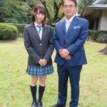 一緒に愛知県広報番組「SKE48のあいちテル!」の収録した、SKE48の高柳明音さんと。愛知県公館の…