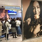 安室奈美恵さんのオリジナルショップが8階のDISP!!!でオープンしてるよ!✨沢山の人で賑わっていて…