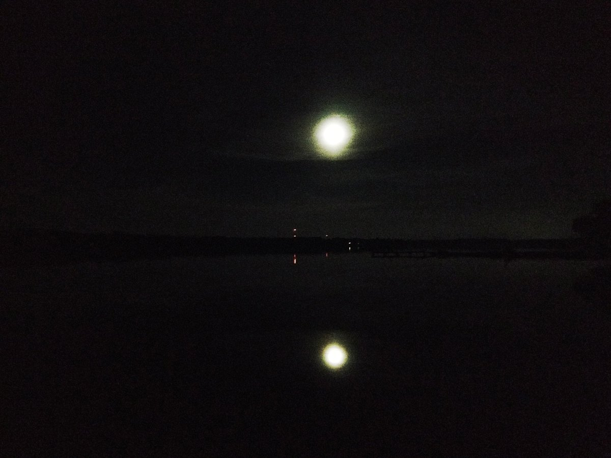 Night comes to East Bay. #moon #night #f...
