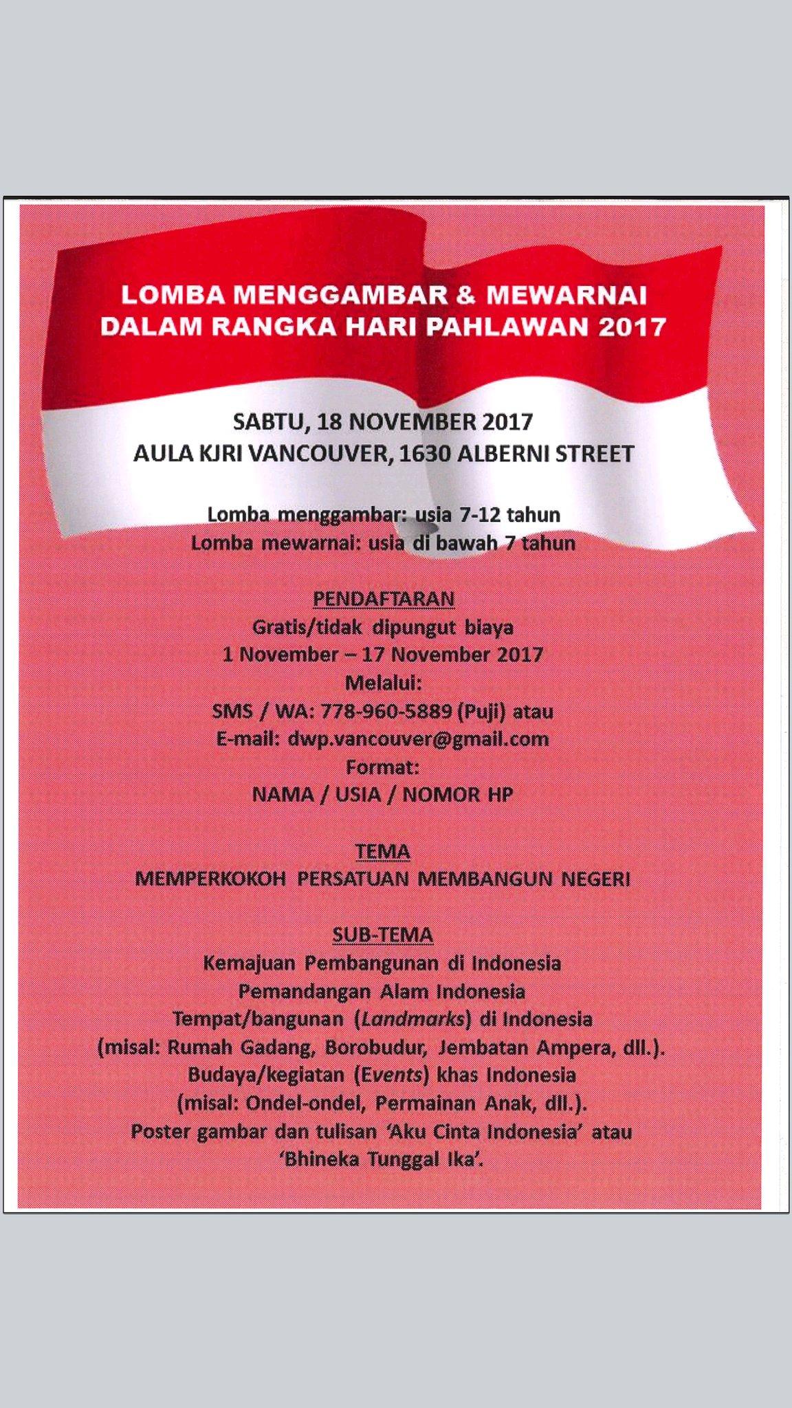 """Uživatel Indonesia In Vancouver Na Twitteru """"Pengumuman"""