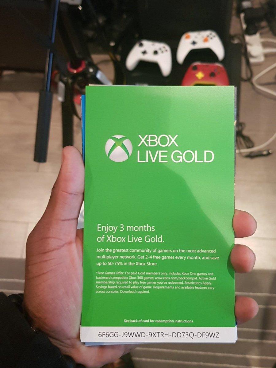 GadgetsBoy (MWC 2019) on Twitter: &quot;XBL Gold 3 months <b>code</b>. Enjoy ...