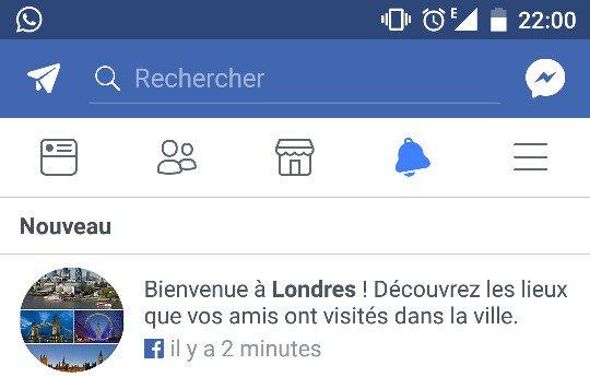 Merci @facebook de me souhaiter la bienvenue à Londres alors que je suis à... Paris 🤔🤔🤔