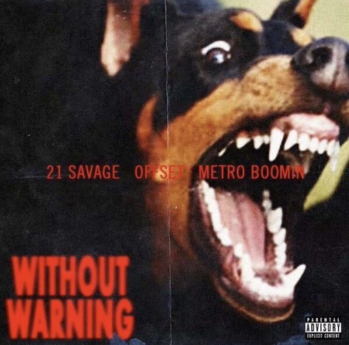 New Album Dropping Tonight at Midnight 👀👀👀 @21savage #withoutwarning #HappyHalloween ⚔️🗡⚔️🗡⚔️🗡⚔️ https://t
