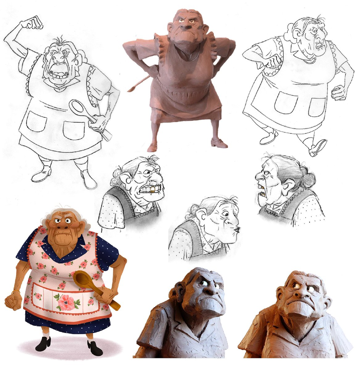 Daniel Arriaga On Twitter U0026quot;Abuelita From #pixarcoco Artofbook. Sheu2019s A Strong Woman Who Loves ...