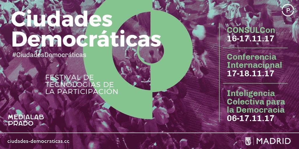 Enreda participará en #CiudadesDemocráticas, el festival internacional de tecnológias de participación
