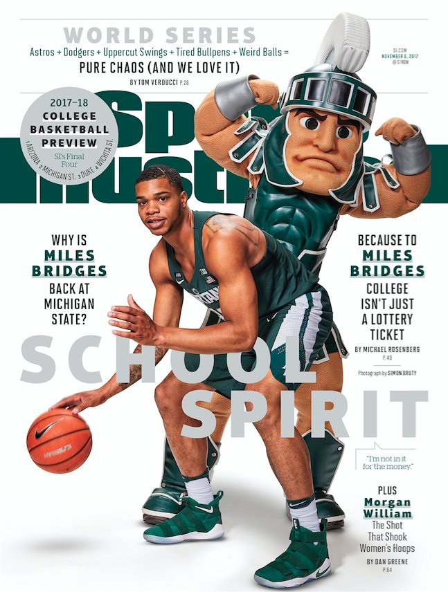 2017 : Miles Bridges and Sparty Appear on Cover of Sports Illustrated