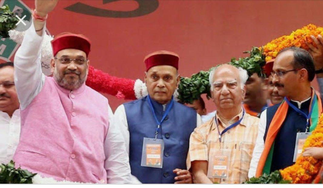 Prem Kumar Dhumal BJP's Chief Ministerial candidate for Himachal Pradesh