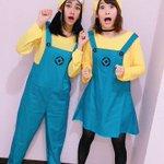 #Minions に変身🍌🍌💙こもちゃんとおそろ〜💓かーこときゃんとあいあいも!みんなでパーリナイ🎃…