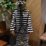 <エントリーNO.5>DJサンタモニカ仮装内容: 囚人意気込ミ: 首ノ鎖ハ本物デズ。体張…