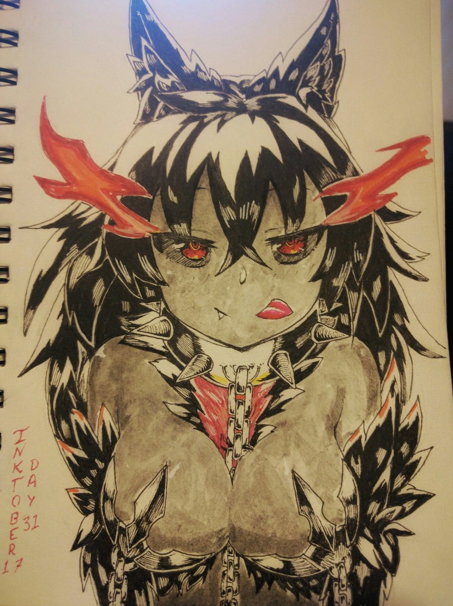 Day 31 Inktober. A 🌭 for discord. #魔物娘図鑑 #魔物娘図鑑二次 #inktober #inktober2017