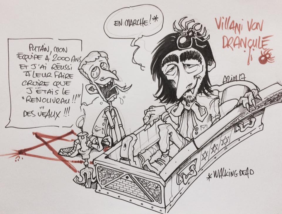 http://www. kontrekulture.com/produit/l-alma nach-pour-tous-volume-4-2016 &nbsp; …  Feliz Halloween #Halloween #dessin #illustration #politique #Macron #gouvernement #CédricVillani<br>http://pic.twitter.com/axojFIDM5g