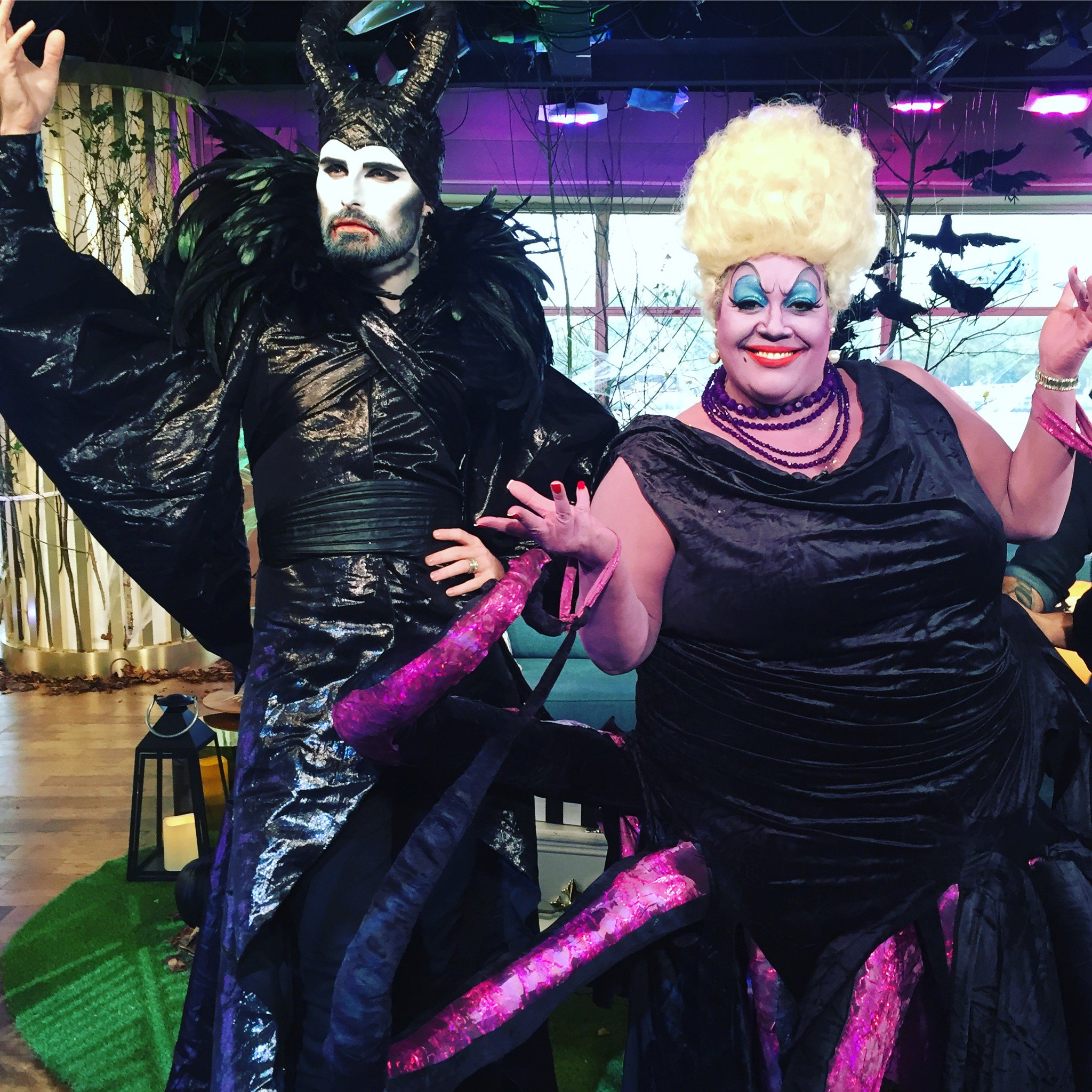 RT @thismorning: Maleficent and Ursula have joined their wicked forces! 😈 @Rylan @AlisonHammond2 https://t.co/CQebjJHojn
