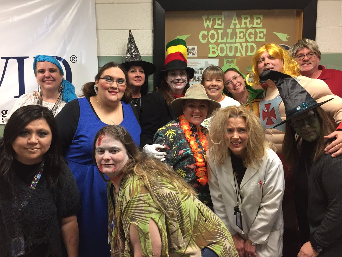 "kathy roberts on twitter: ""halloween faculty fun at bonham middle"