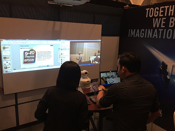 we showcased several solutions at the epson projection conference in the philippines parallax idea av and utb