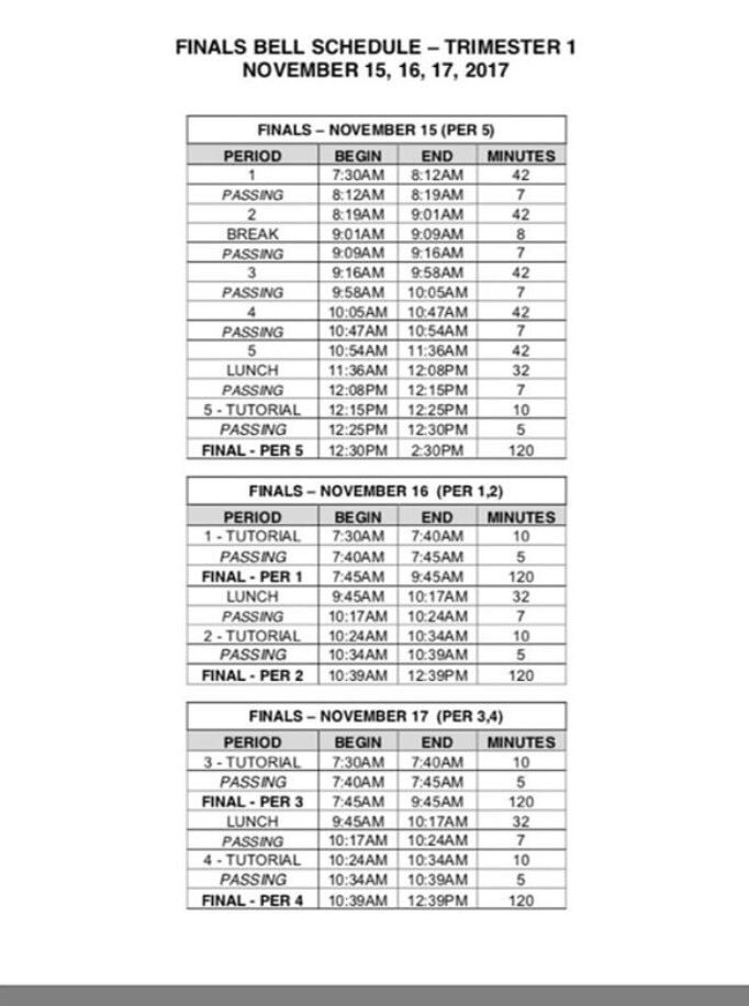 "poway high school bell schedule Poway High School on Twitter: ""Here is the official bell schedule ..."