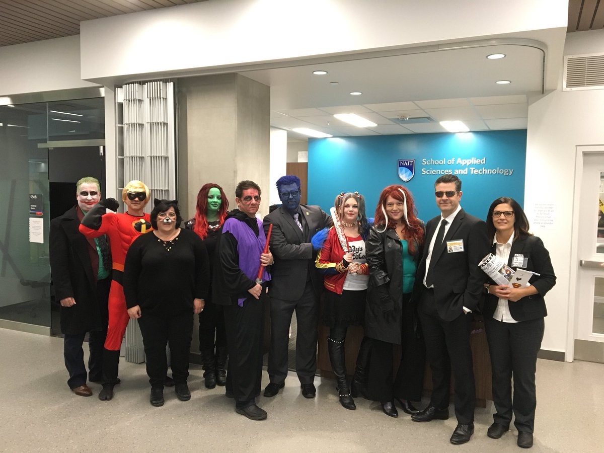 jeannette labrie on twitter love the halloween spirit with the naitscitech team nait scary bunch halloween