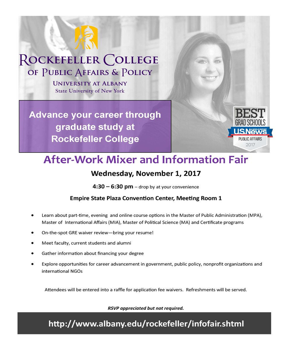 Rockefeller College On Twitter Learn About Part Time Evening