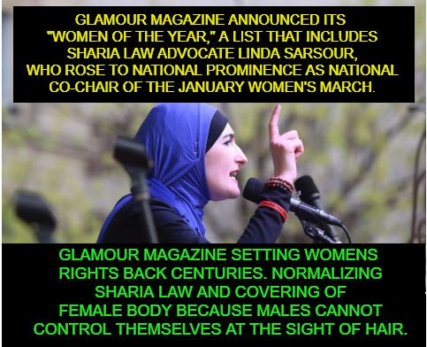 Image result for pic of linda sarsour and glamour magazine
