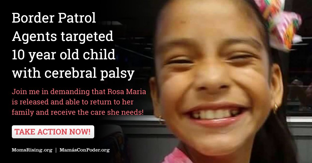 10-year-old #RosaMaria shouldn't spend one more day away from her family. Tell ORR to release her now: https://t.co/1KQedIzDC1 #ReleaseRosa