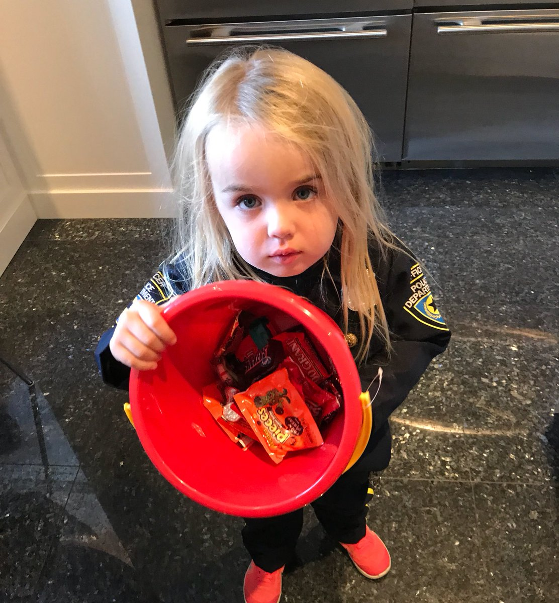 I'm going to take half of Chloe's candy tonight & give it to some kid who sat at home. It's never to early to teach her about socialism.