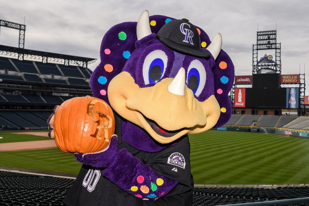 colorado rockies on twitter dinger got into the halloween spirit today