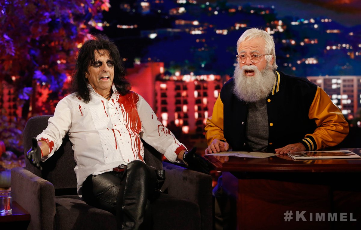 Dave Grohl Dons A Letterman Costume To Jam With Kristen Bell In A 'Frozen' Metallica Mashup On 'Kimmel'