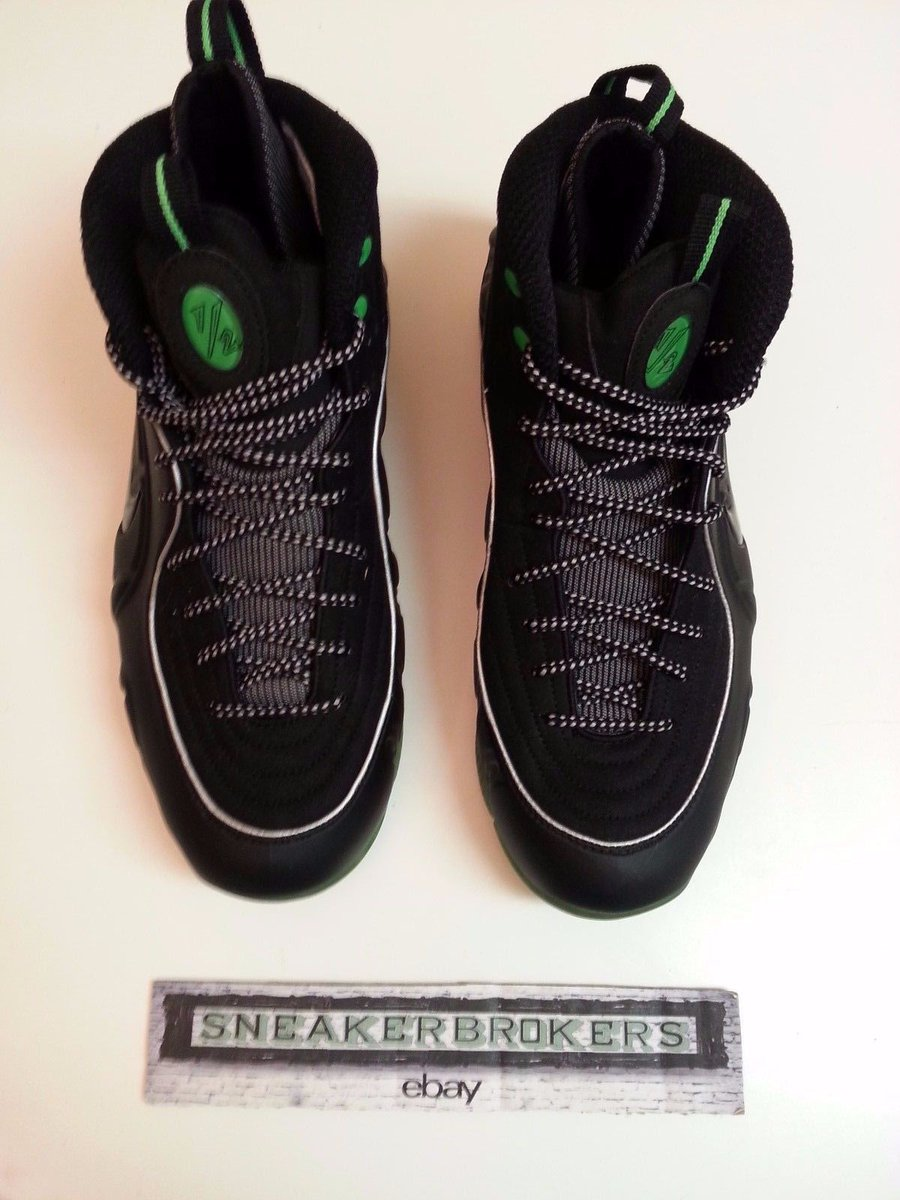 the best attitude cda4d 763e3 Nike Air Penny 1 2 Half Cent Black Green size 10. 344646-002.  189.99  Shipped pp invoice  RetailTuesday  micnice   RetailTuesdaypic.twitter.com soEkfPiuy3