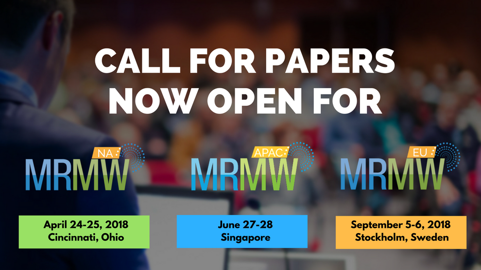 2018 MRMW Insight conferences - Call for Papers now OPEN! Theme: The Rise of Digital Disruption!  https:// goo.gl/uMtdfV  &nbsp;   #mrx #newmr <br>http://pic.twitter.com/i89nTWyZ1h