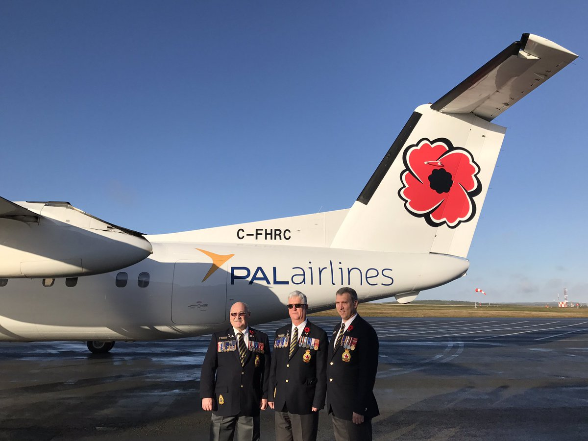 Gerri lynn mackey on twitter pal aerospace will display the pal aerospace will display the official poppy symbol on a dash 8 aircraft and they will situate poppy pin donation containers at pal counters through the nl biocorpaavc Choice Image