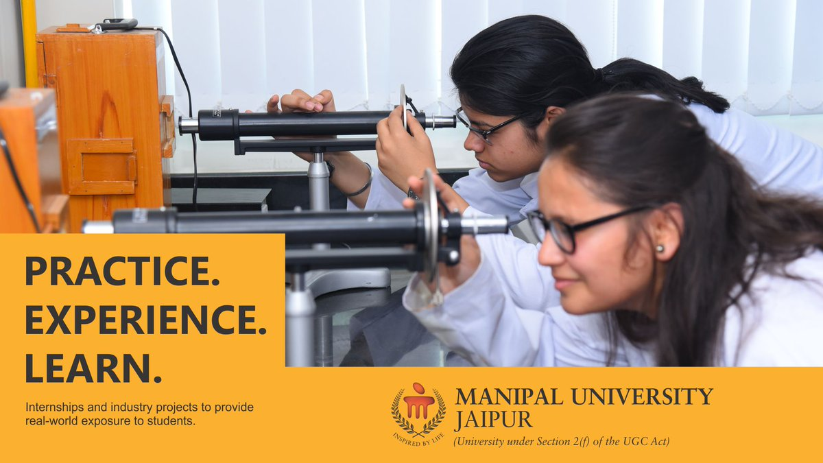 Practice.Experience.Learn. At Manipal University Jaipur. #muj #manipal #lefeatmuj #bestuniversity #jaipur<br>http://pic.twitter.com/xnfJ2Q8NYV