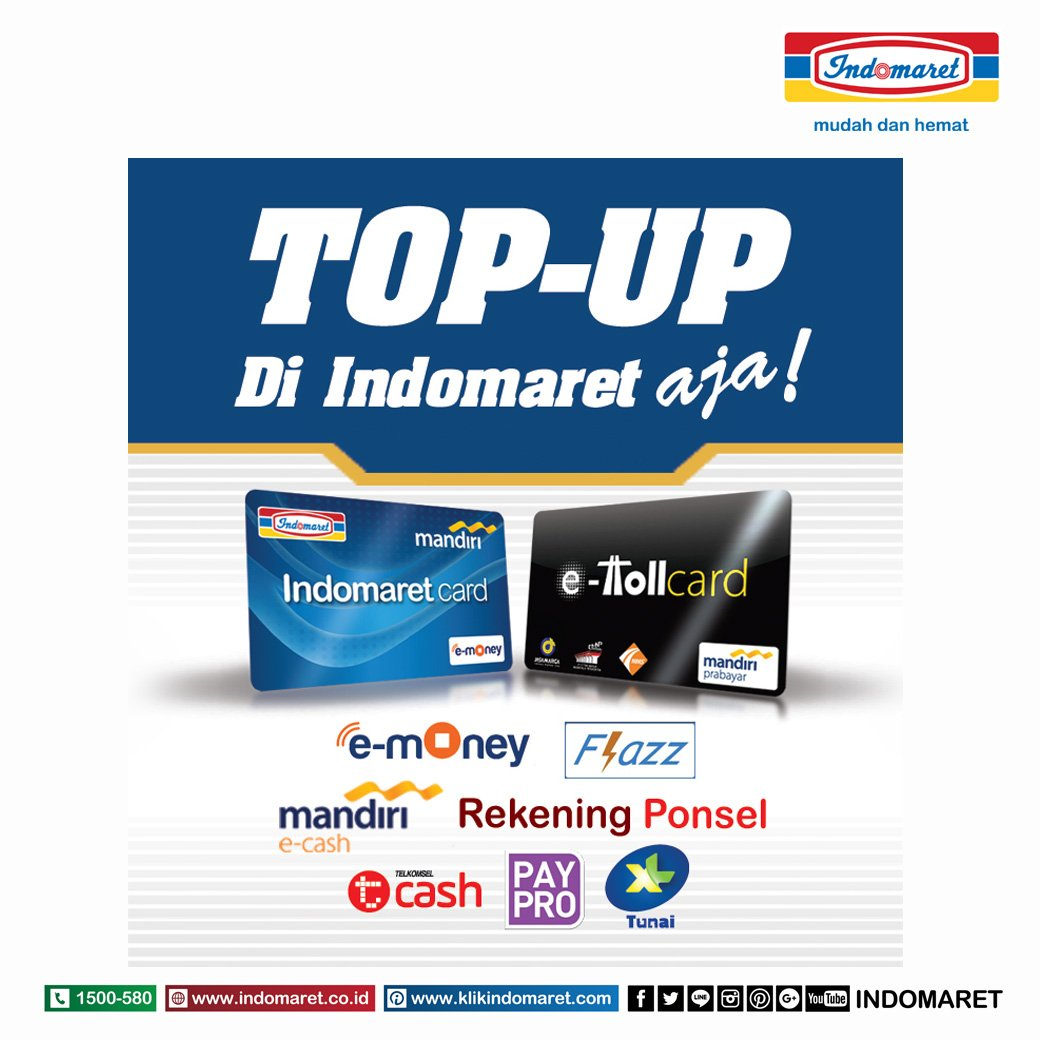 Indomaret On Twitter Topup Card E Toll Emoney Flazz Bca 10 Kartu 1000 Pm 6 Nov 2017