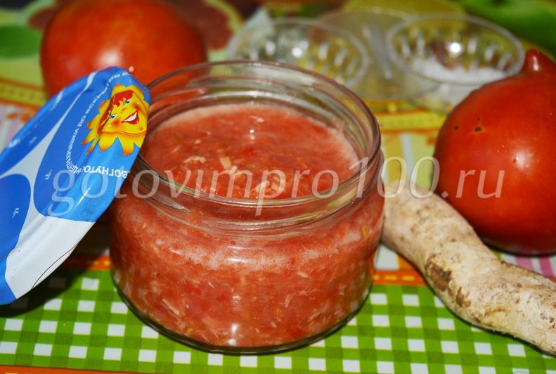 Аджика острая на зиму рецепты из помидор и перца и хрена