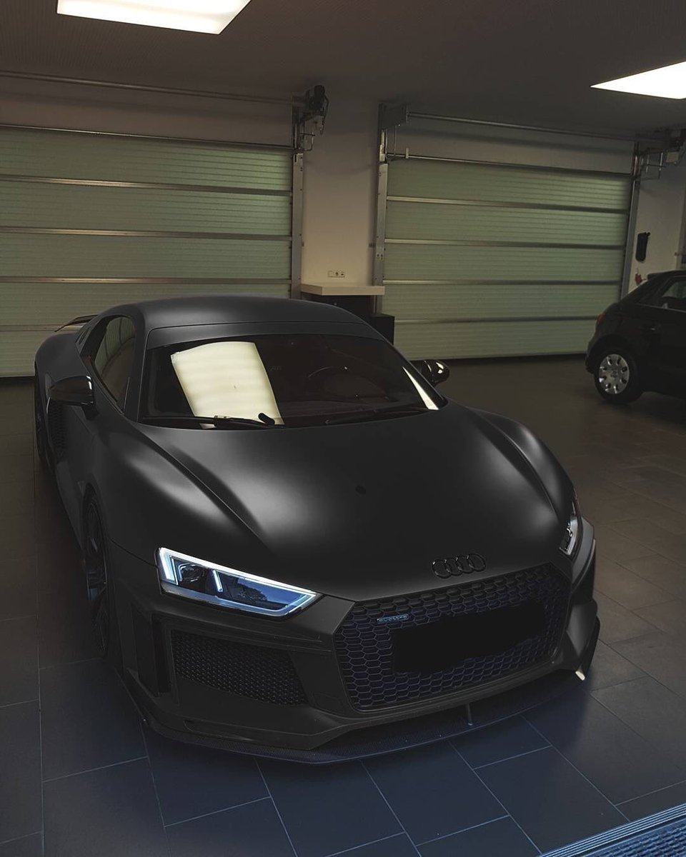 Audi Daily On Twitter Matte Black Abt Audi R8 V10 Plus