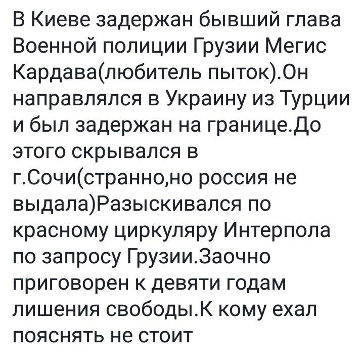Украина начала процедуру экстрадиции в Грузию задержанного при попытке въезда в страну экс-чиновника грузинского МВД, - СБУ - Цензор.НЕТ 9941