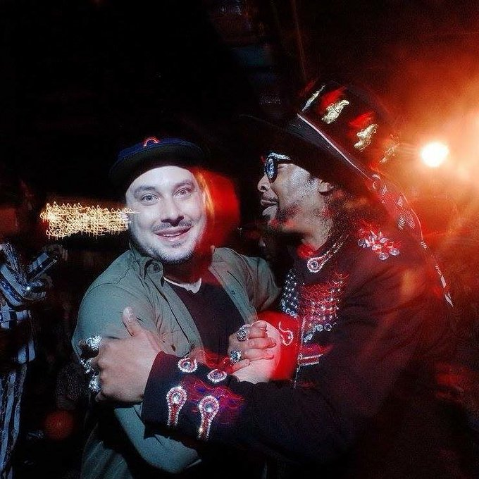 The moment I met and my face made the thought my brain had. Happy Birthday Bootsy!