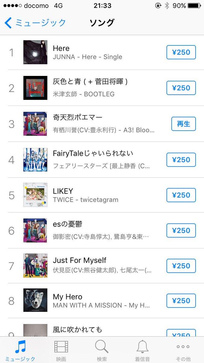 ドジャーン(銅鑼)!!!  iTunes総合3位!!!!!  #エースリー #有栖川誉